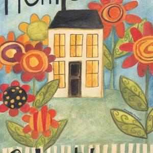 Home sweet home decorative flag