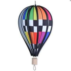 18 in. Hot Air Balloon - Checkered Rainbow