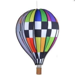 22 in. Hot Air Balloon - Checkered Rainbow