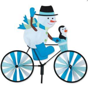 20 in. Bike Spinner -Snowman