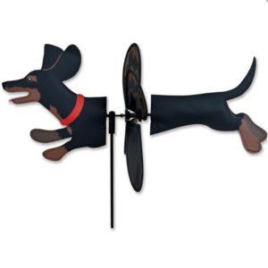 Petite Spinner - Black Dachshund