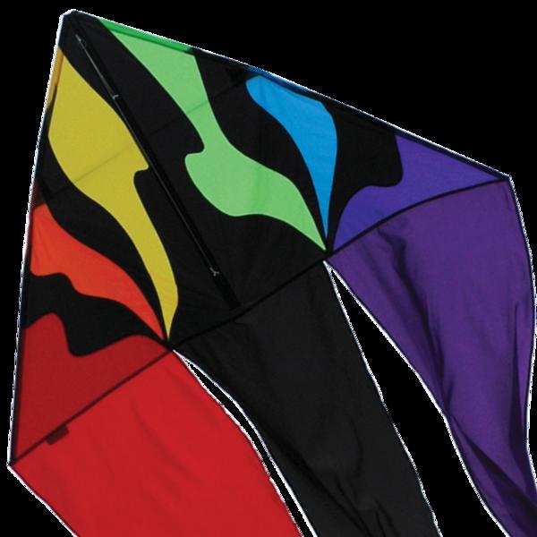 56 in. Flo-tail Delta Kite - Rainbow