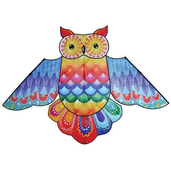 86 in. Rainbow Owl Kite