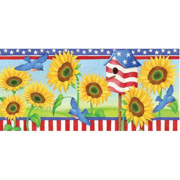Windsock - Patriotic Sunflower