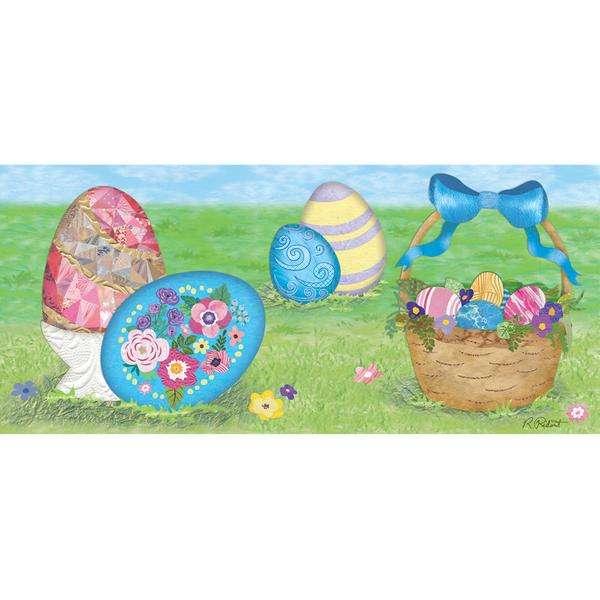 Embroidered Applique Windsock - Elegant Easter Eggs