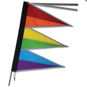 Tri-Stack Bike Flag - Rainbow