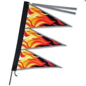 Tri-Stack Bike Flag - Flames